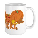 Halloween Pumpkin Vicki Large Mug
