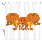 Halloween Pumpkin Vicki Shower Curtain