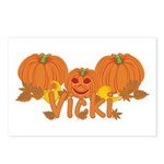 Halloween Pumpkin Vicki Postcards (Package of 8)