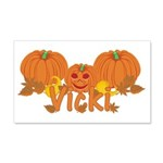 Halloween Pumpkin Vicki 20x12 Wall Decal