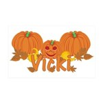 Halloween Pumpkin Vicki 35x21 Wall Decal