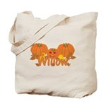 Halloween Pumpkin Willow Tote Bag