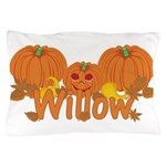 Halloween Pumpkin Willow Pillow Case