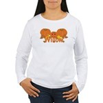 Halloween Pumpkin Willow Women's Long Sleeve T-Shi