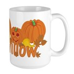 Halloween Pumpkin Willow Large Mug