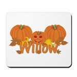 Halloween Pumpkin Willow Mousepad
