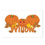 Halloween Pumpkin Willow Postcards (Package of 8)
