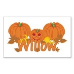 Halloween Pumpkin Willow Sticker (Rectangle)