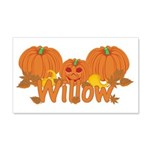 Halloween Pumpkin Willow 20x12 Wall Decal
