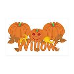 Halloween Pumpkin Willow 35x21 Wall Decal