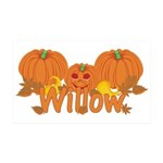 Halloween Pumpkin Willow 35x21 Wall Decal