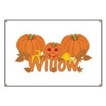 Halloween Pumpkin Willow Banner