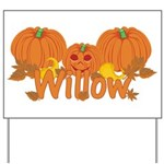 Halloween Pumpkin Willow Yard Sign