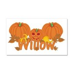 Halloween Pumpkin Willow Car Magnet 20 x 12