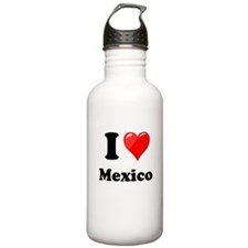I Heart Love Mexico Sports Water Bottle