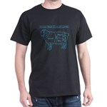 Blue print / Know Your Cuts of Lamb Dark T-Shirt