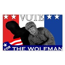 Vote for the Wolfman! Decal