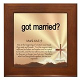 got married? Framed Tile