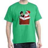 Santa and Spy - Funny Shirt T-Shirt