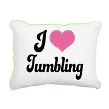 I Heart Tumbling Rectangular Canvas Pillow