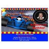 Boy birthday race car 5 x 7 Flat Cards