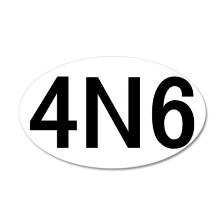 4N6 35x21 Oval Wall Decal