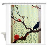 Morning Song on the Terrace Shower Curtain