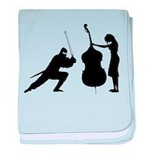 Double Bass Ninja baby blanket