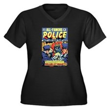 All-Famous Police Cases #7 Women's Plus Size V-Nec