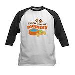 Cairn Terrier Mommy Kids Baseball Jersey