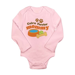 Cairn Terrier Mommy Long Sleeve Infant Bodysuit