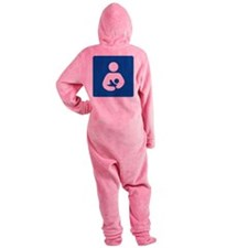 Breast Feeding Icon Footed Pajamas