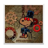 Steampunk Snoopy Tile Coaster