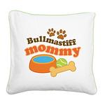 Bullmastiff Mommy Square Canvas Pillow