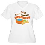 Bullmastiff Mommy Women's Plus Size V-Neck T-Shirt
