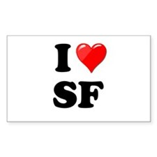 I Heart Love SF San Francisco.png Decal