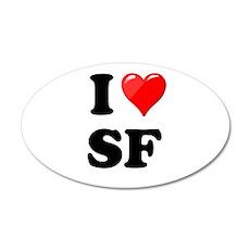 I Heart Love SF San Francisco.png 20x12 Oval Wall