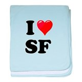 I Heart Love SF San Francisco.png baby blanket