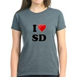 I Heart Love SD San Diego.png Tee