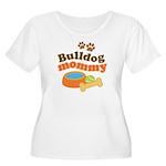 Bulldog Mommy Women's Plus Size Scoop Neck T-Shirt