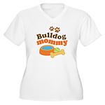 Bulldog Mommy Women's Plus Size V-Neck T-Shirt