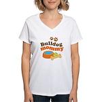 Bulldog Mommy Women's V-Neck T-Shirt