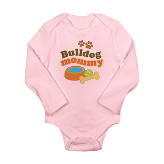 Bulldog Mommy Long Sleeve Infant Bodysuit