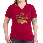 German Shepherd Mommy Women's V-Neck Dark T-Shirt