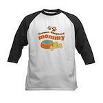 German Shepherd Mommy Kids Baseball Jersey