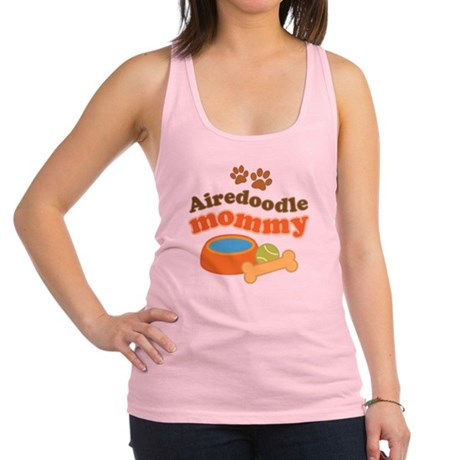 Airedoodle Mommy Racerback Tank Top