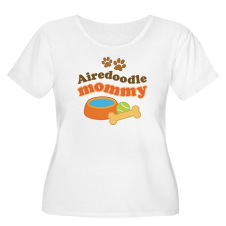 Airedoodle Mommy Women's Plus Size Scoop Neck T-Sh