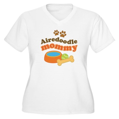 Airedoodle Mommy Women's Plus Size V-Neck T-Shirt