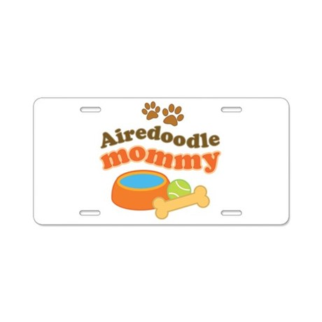 Airedoodle Mommy Aluminum License Plate