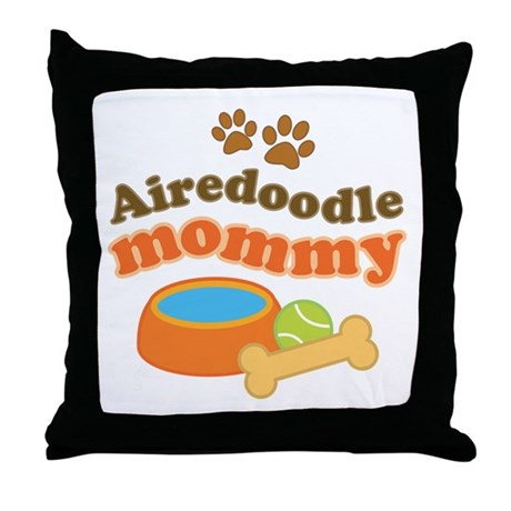 Airedoodle Mommy Throw Pillow
